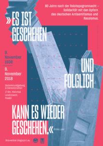 esistgeschehenundfolglichkanneswiedergeschehen09.11.2018berlinmahnwachedemonstration